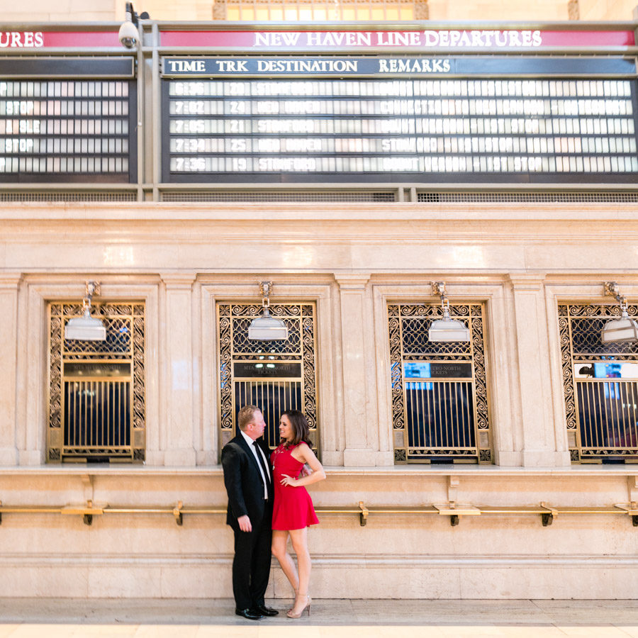 Grand Central Station NYC engagement photos by Casey Fatchett - fatchett.com