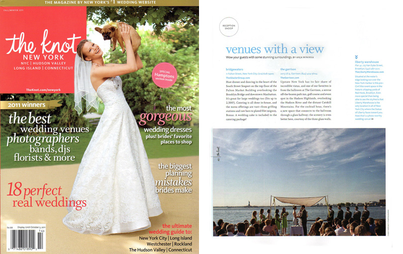 wedding photographer featured in the knot magazine