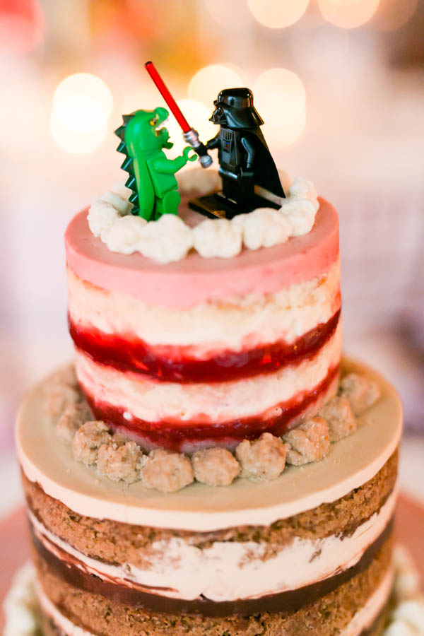 godzilla darth vader wedding cake
